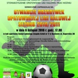Inauguracja rozgrywek Opatowskiej Ligi Piłki Halowej