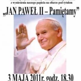 """Koncert poetycko - muzyczny  """"Jan Paweł II - Pamietamy"""""""