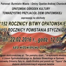 Obchody 152 – ej rocznicy Bitwy Opatowskiej