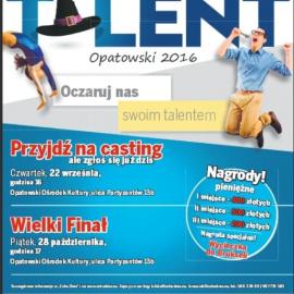 Talent Opatowski - zapraszamy na casting