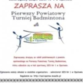 Zaproszenie na Pierwszy Powiatowy Turniej Badmintona