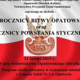 Obchody 155 rocznicy Bitwy Opatowskiej oraz 156 rocznicy Powstania Styczniowego